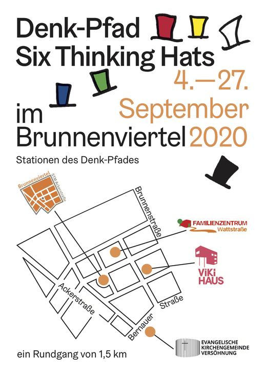 Denk-Pfad   Six Thinking Hats   4.-27. September 2020   im Brunnenviertel   Berlin   ein Rundgang von 1,5 km