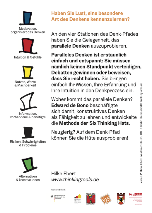 Six Thinking Hats | Berlin | Hilke Ebert | www.thinkingtools.de