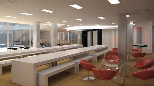 Visualización 3d interior arnaiz consultores, render 3d max, vray