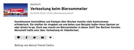"""""""Online-Date mit dem Biersommelier Karsten Morschett aus Berlin"""""""