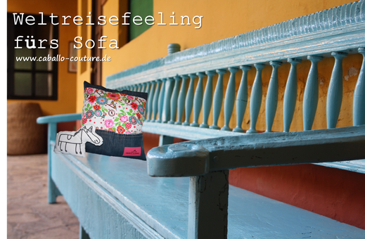 kissen aus jeans naehen, weltreisefeeling fürs sofa - upcycling project - caballo-coutures, Design ideen