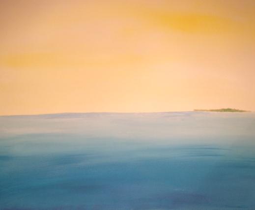 willkunst Bild Meer mit Insel