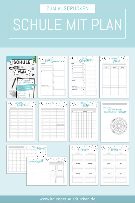 Home Schooling Druckvorlagen zum Download.