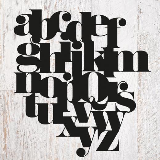 Plotter Datei Buchstaben, Freebie download auf www.die-kleine-designerei.com