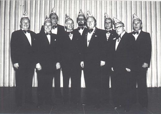 Vorstand 1979 v.l.n.r. Dr. Bruno Ulrich, Mathias Rhein, Karl Heinz Nagel, Arthur Ziemert Rainer Meisen, Jupp Decker, Hans Land, Joseph Decker sen., Leo Drozinski