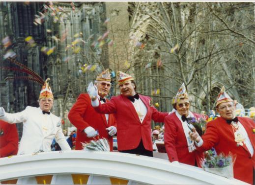 Teilnahme am Rosenmontagszug 1989 (50-jähriges Jubiläum)