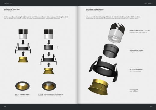 shematische Darstellung eines Einbaustrahlers. 3D Rendering, übersichtlicher als ein Foto