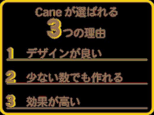 Caneがノベルティ制作で選ばれる理由