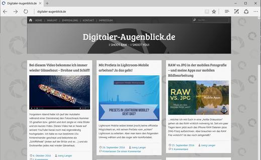 Screenshot der Seite digitaler-augenblick.de