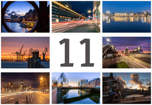 Monat November mit Bildern aus Hamburg