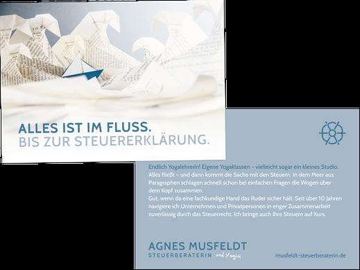 Flyer ZG Yogalehrer: Agnes Musfeldt, Steuerberaterin Hamburg, von Andreas Ruthemann