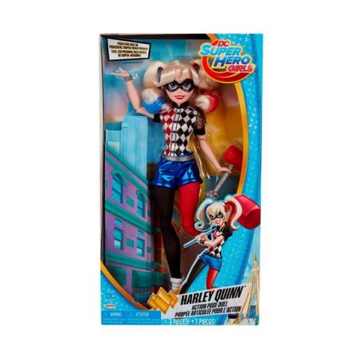 Dc super hero girls harley quinn muñeca de acción articulada