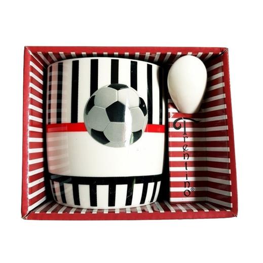 Taza con cuchara futbol