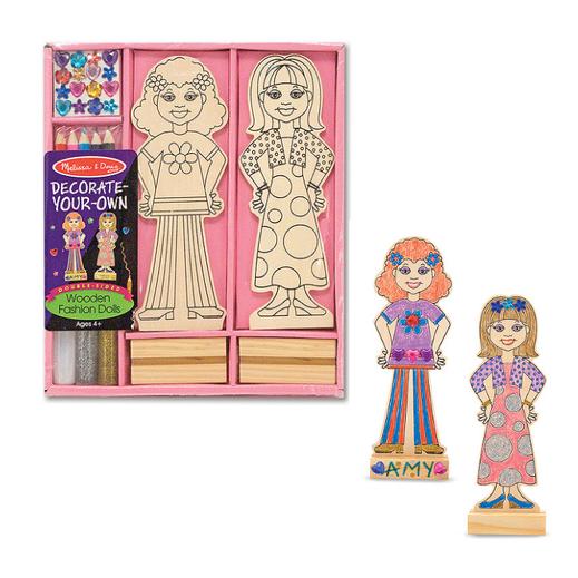 Decora tus muñecas de madera