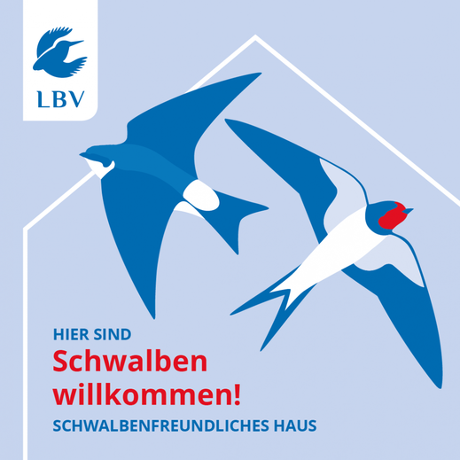 """LBV-Plakette """"Schwalbenfreundliches Haus"""""""