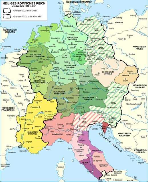 Die Ostmark gehörte früher zu Bayern (Karte: Sémhur/ Wikimedia Commons)