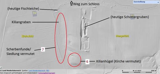 Detail-Ausschnittskarte zu Kilian