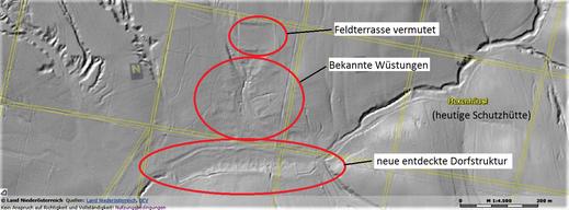 Luftbildaufnahme lässt bislang unbekannte Strukturen erkennen