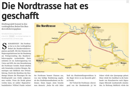 Quelle: Schwäbische Zeitung vom 3. Dezember 2016