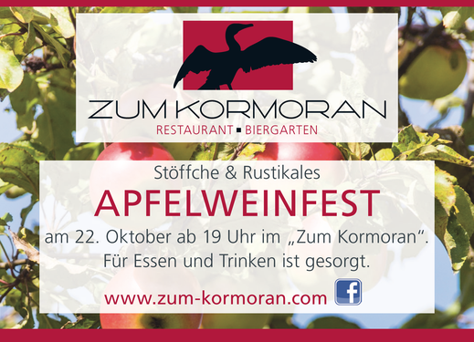 Apfelweinfest am Wißmarer See im Zum Kormoran