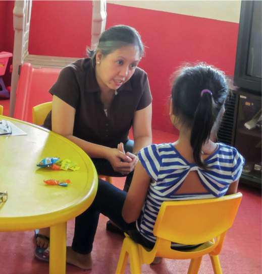 In the care center, the children receive psychological support so they can learn to handle the bad experiences. (Photo: Plan International)