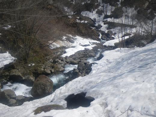 石徹白川本流の流れ