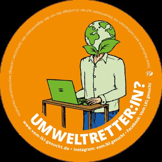"""Sticker """"Umweltverbesserin"""". Illustration Lisa Tasch"""