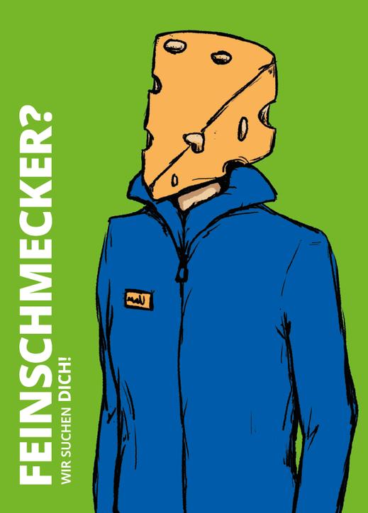"Postkarte ""Feinschmecker"". Illustration Lisa Tasch"