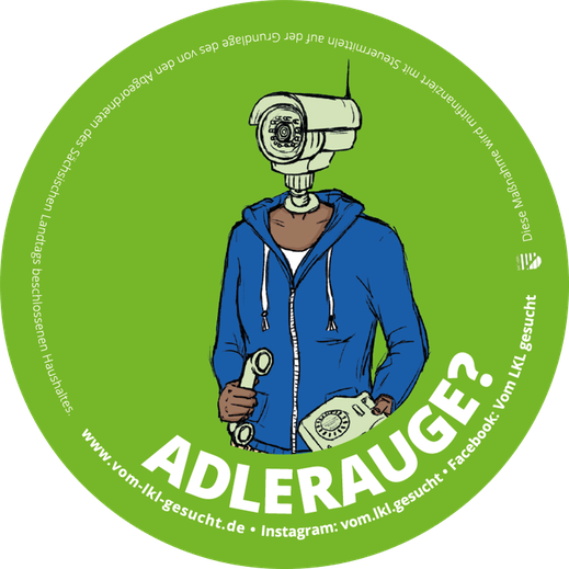 "Sticker ""Adlerauge"". Illustration Lisa Tasch"