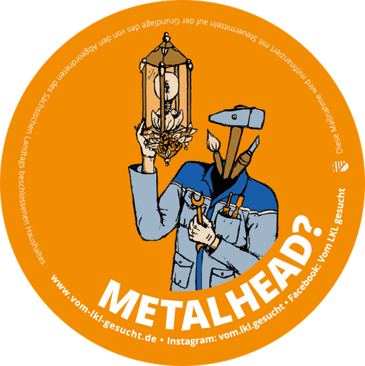 "Sticker ""Metalhead"". Illustration Lisa Tasch"