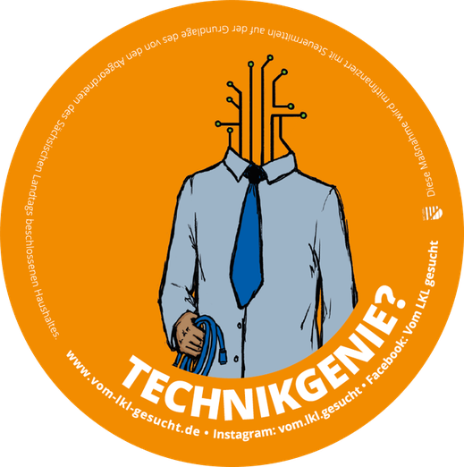 "Sticker ""Technikgenie"". Illustration Lisa Tasch"
