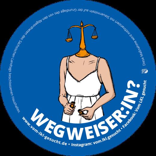 "Sticker ""Wegweiser:in"". Illustration Lisa Tasch"