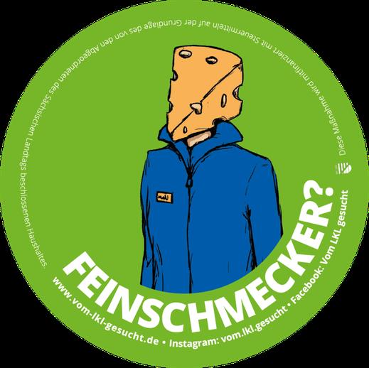 """Sticker """"Feinschmecker"""". Illustration Lisa Tasch"""