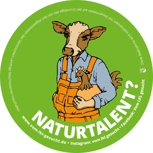 "Sticker ""Naturtalent"". Illustration Lisa Tasch"