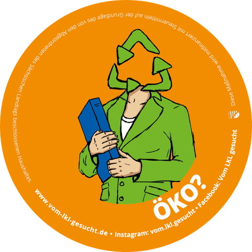 "Sticker ""Öko"". Illustration Lisa Tasch"