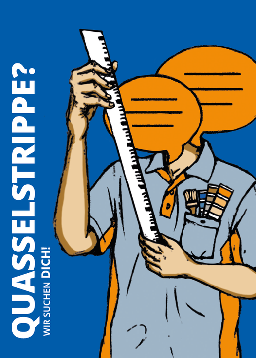 "Postkarte ""Quasselstrippe"". Illustration Lisa Tasch"