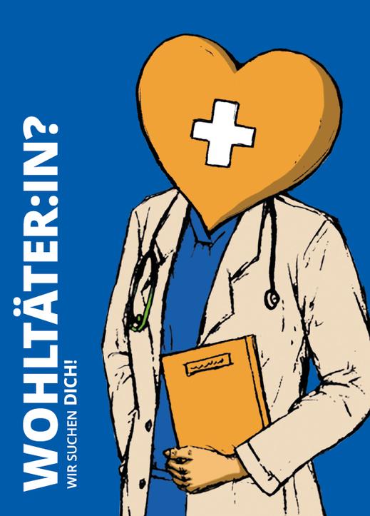 "Postkarte ""Wohltäter:in"". Illustrtaion Lisa Tasch"