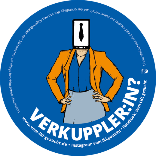"Sticker ""Verkuppler:in"". Illustration Lisa Tasch"