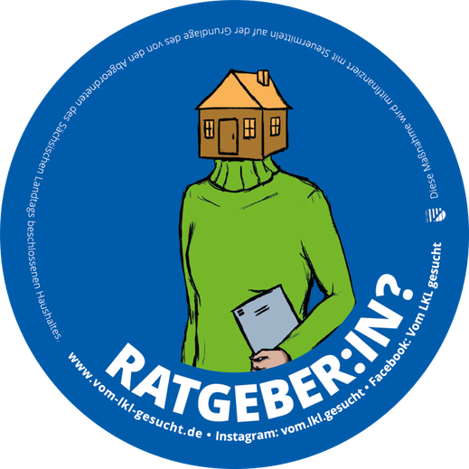 "Sticker ""Ratgeber:in"". Illustration Lisa Tasch"