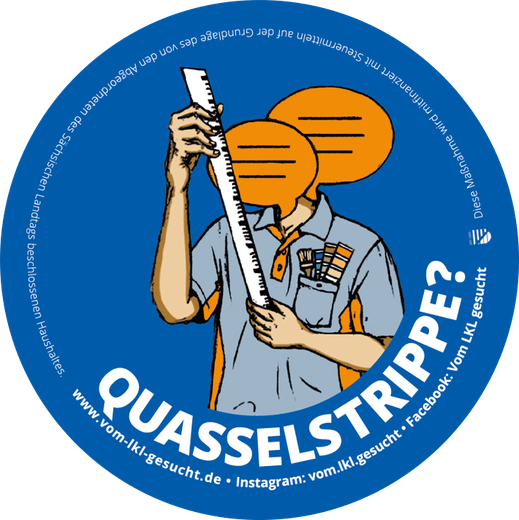 "Sticker ""Quasselstrippe"". Illustration Lisa Tasch"