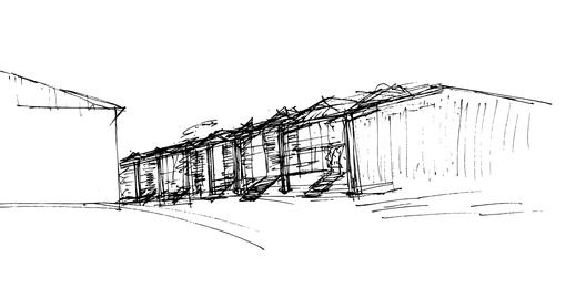 Reihenhausbebauung in bestehendem Gewerbe- / Wohnquartier