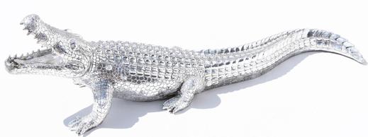 Krokodil, silber, 97cm