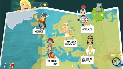 Bild: History Atlas for Kids, App-Screenshot.