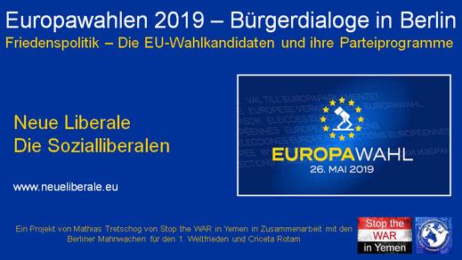 Europawahlen 2019 - Bürgerdialog - NeueLiberale - 08.04.2019