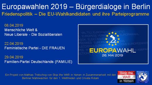 Europawahlen 2019 - Termine Bürgerdialoge in Berlin