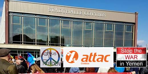 Stadthalle Cottbus - Veranstaltungsort Bürgerdialoge Landtagswahlen Brandenburg 2019 - Google-Routenplaner, einfach in das Bild klicken