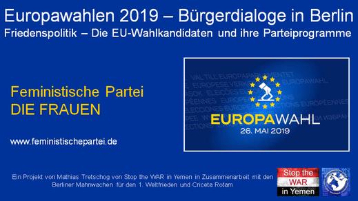Europawahlen 2019 - Bürgerdialog - Feministische Partei - 22.04.2019