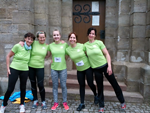 Das zufriedene Staffelteam des Palliativvereins nach dem Wettkampf (Foto: L. Zeuner)