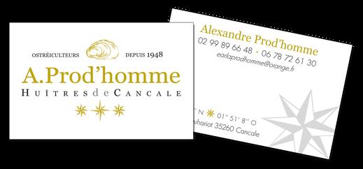 Huîtres Prod'homme - Logo&Co Communication Cancale