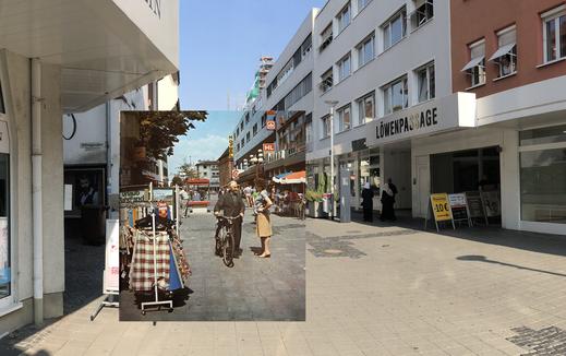 Marktstraße - in den 70ern und heute